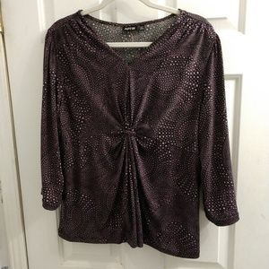 Apt. 9 Tops - Apt. 9 Purple and Black Paisley blouse